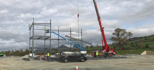 Steel erected at our new HQ