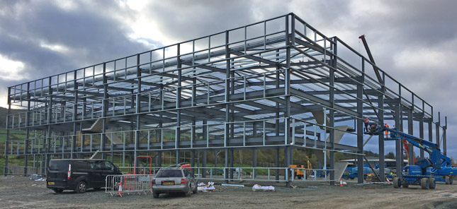 HQ build progess at Offa's Dyke, Welshpool