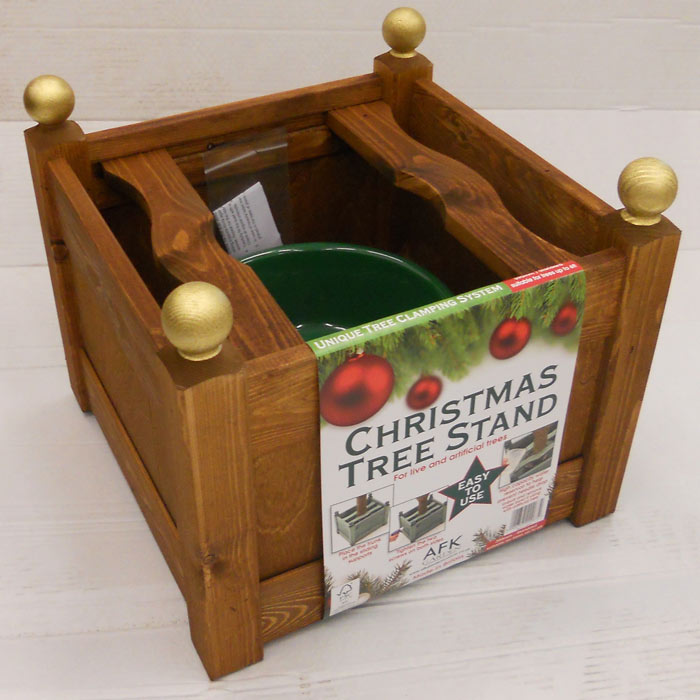 Classic Wooden Christmas Tree Stand Beech
