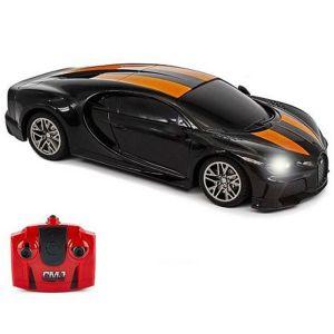 CMJ Bugatti Chiron Supersport Remote Controlled Car - Black & Orange - 1:24