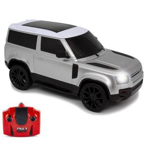 CMJ Land Rover New Defender Remote Controlled Car - Silver - 1:24