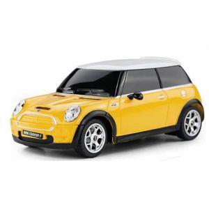 CMJ Mini Cooper S Remote Controlled Car - Yellow - 1:24