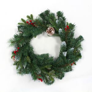 Frosted Winter Berry Wreath – 60cm