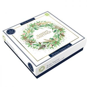 Tom Smith Deluxe Foliage Christmas Cards - 10 Pack
