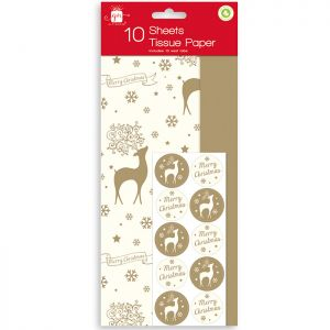 Stag and Gold Tissue Paper - 10 Sheets