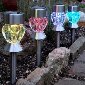 Crystal Glass Stake Light