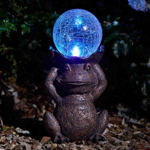 Smart Solar Colour Changing Gazing Frog