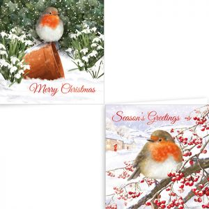 Traditional Robin Christmas Cards - Pack of 12