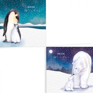 Arctic Animals Christmas Cards - Pack of 12
