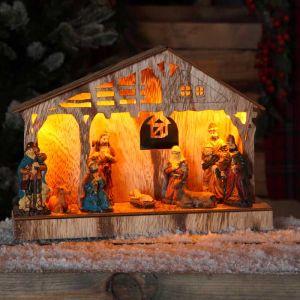 Noma Illuminated Christmas Nativity Scene - 26.5cm