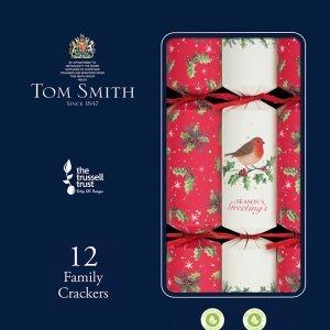 Tom Smith Traditional Family Christmas Crackers - Pack of 12