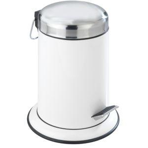 Wenko Retoro Pedal Bin, 3 Litre - White