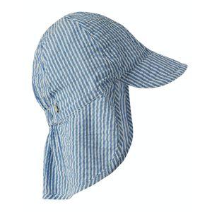 Frugi Baby Legionnaires Hat – Cobalt Blue Stripe