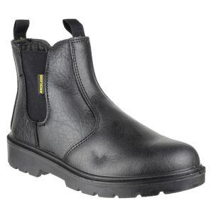 Amblers Unisex FS116 Safety Dealer Boots – Black
