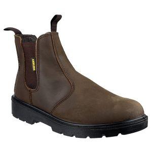 Amblers Unisex FS128 Safety Dealer Boots – Brown