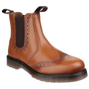 Amblers Men's Dalby Brogue Dealer Boots – Tan