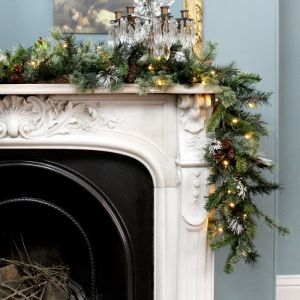 National Tree Wintry Pine Pre-Lit Garland - 3.6m