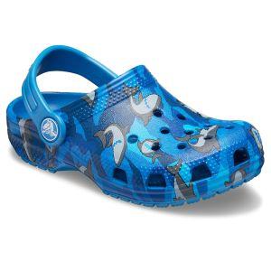 Crocs Kids Classic Shark Clog – Prep Blue