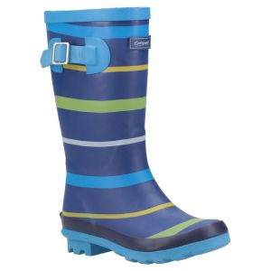 Cotswold Junior Stripe Wellingtons – Blue/Green/Yellow