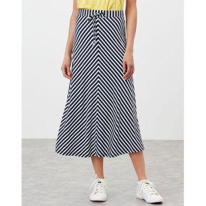 Joules Women's Auriel Chevron Skirt – Navy White Stripe