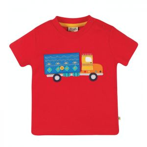 Frugi Baby Playdate Tee – True Red Truck