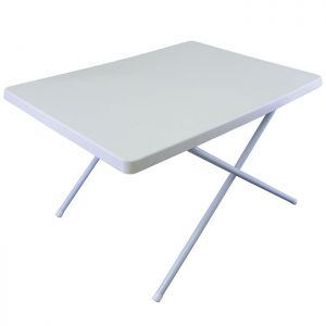 Yellowstone White Adjustable Resin Table