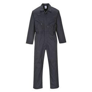 Portwest Liverpool Zip Coverall - Regular, Black
