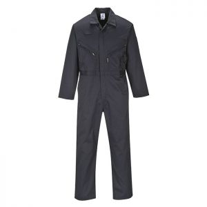 Portwest Liverpool Zip Coverall – Tall, Black