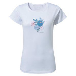 Craghoppers Women's Miri Short Sleeved T-Shirt – Optic White Floral
