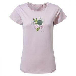 Craghoppers Women's Miri Short Sleeved T-Shirt – Brushed Lilac Floral