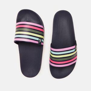 Joules Women's Poolside Printed Slider – Multi Stripe