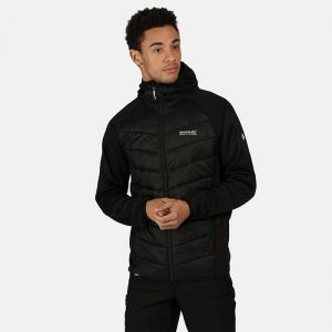 Regatta Men's V Hybrid Insulated Quilted Hooded Walking Jacket – Black