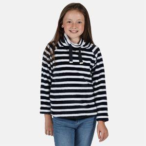 Regatta Children's Heleena Velour Overhead Fleece – Navy Stripe