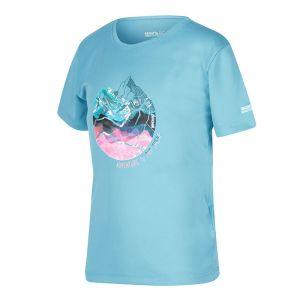 Regatta Children's Alvardo V graphic T-Shirt – Cool Aqua