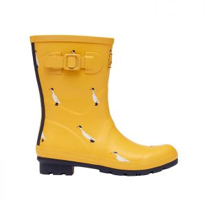 Joules Women's Mid Height Molly Wellies – Gold Duck