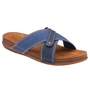 Lotus Men's Marvin Mule Sandals - Denim