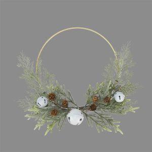 Modern Metal Bell Wreath – 50cm