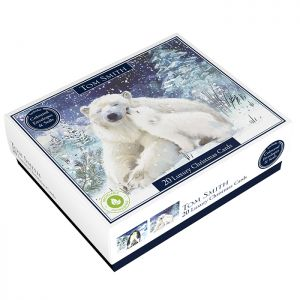 Tom Smith Luxury Penguin and Polar Bear Christmas Cards - Pack of 20