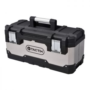 Tactix Stainless Steel Tool Box - 20in