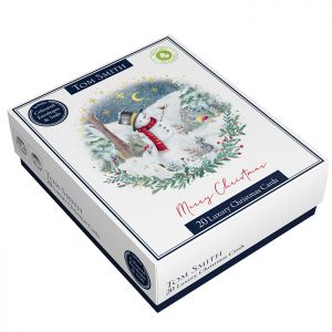 Tom Smith Luxury Snowman Christmas Cards - Pack of 20