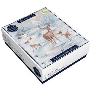 Tom Smith Luxury Winter Scene Christmas Cards - 20 Pack