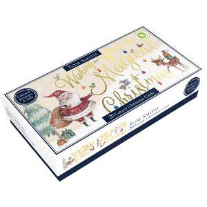Tom Smith Luxury Slim Santa Christmas Cards - 20 Pack