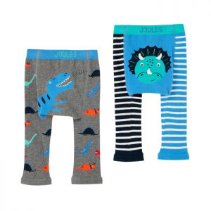 Joules Baby Lively Knit 2 Pack Leggings – Multi Dinosaur