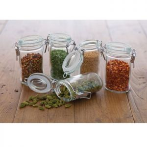 KitchenCraft Mini Clip Top Glass Jar - 100ml