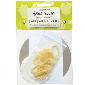 KitchenCraft Home Made Jam Jar Cover Kit, 2lb - Pack of 24