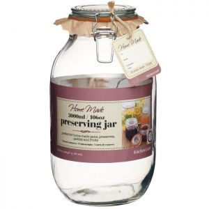 Home Made Glass Preserving Jar - 3 Litre