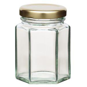 KitchenCraft Home Made Hexagonal Jar with Twist-off Lid - 3.8oz