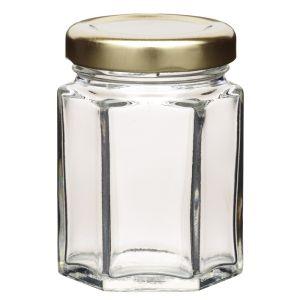 Home Made Hexagonal Jar with Twist-off Lid - 8oz