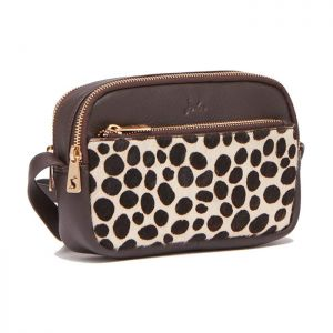 Joules Women's Farley Leather Cross Body Bag - Dalmatian