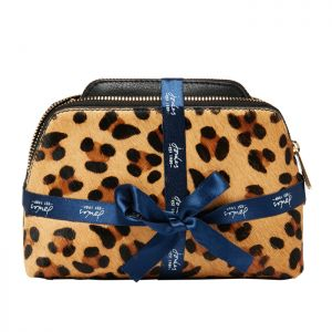 Joules Peplow Leather Cosmetic Purses – Leopard